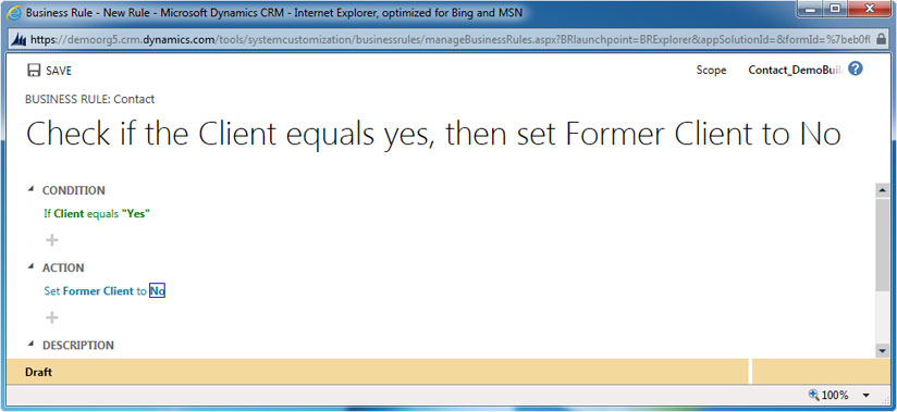 Setting Field Value with the help of Business Rules in CRM 2013, crm 2011 upgrade, upgrade crm, crm customization, crm 2011 customization, microsoft crm 2013, microsoft crm 2011, crm 4.0, microsoft crm 4.0