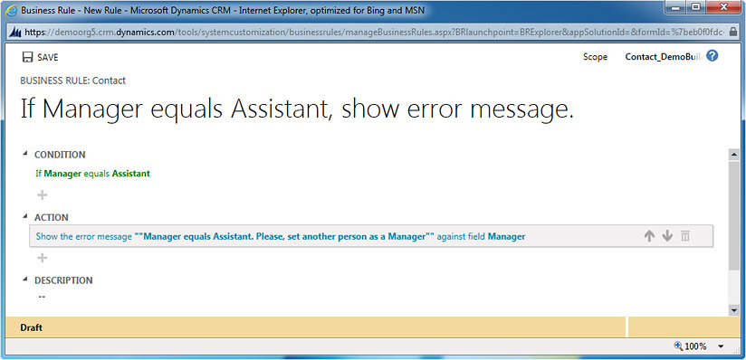 Showing error message with the help of Business Rules in CRM 2013, crm 2011 upgrade, upgrade crm, crm customization, crm 2011 customization, microsoft crm 2013, microsoft crm 2011, crm 4.0, microsoft crm 4.0