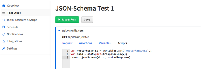 API Testing Using The JSON Schema