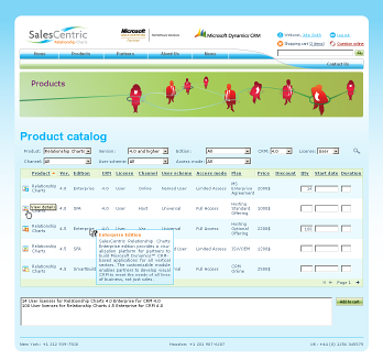 OnlineShop product catalog