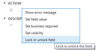 locking/unlocking field