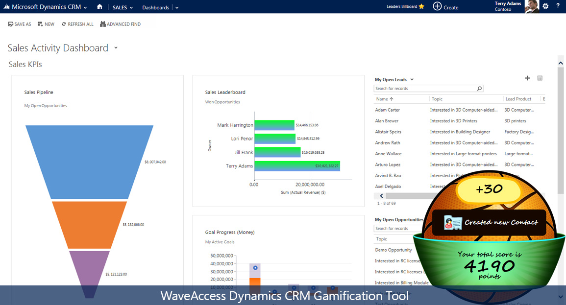 Gamification for Microsoft CRM